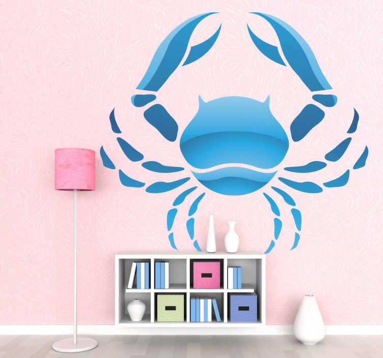 TenStickers. Naklejka znak zodiaku rak. Naklejka na ścianę reprezentująca znak zodiaku rak. Jeśli jesteś zwolennikiem horoskopów nasza naklejka na pewno przypadnie Ci do gustu.