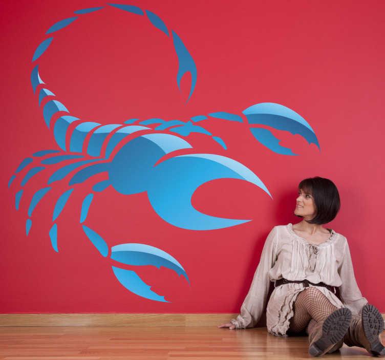 TenStickers. Naklejka znak astrologiczny skorpion. Jeśli urodziłeś się między październikiem, a listopadem mamy dla Ciebie naklejkę dekoracyjną reprezentowaną przez skorpiona.