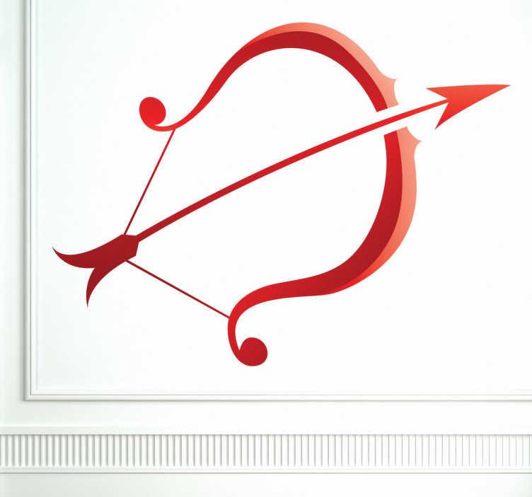TenStickers. Autocolant de perete cu zodia sagetator. Autocolante de perete - semn de stea sagetator. Ideal pentru cei născuți în perioada 22 nov - 21 dec.