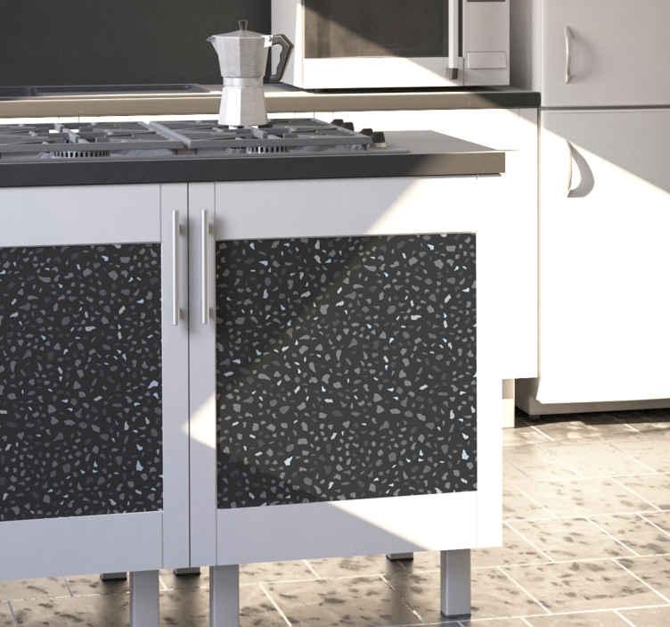 TENSTICKERS. 灰色の石の家具デカール. 家やオフィスのスペースで家具の表面を飾る灰色の石の家具ビニールステッカー。必要なサイズでご利用いただけます。