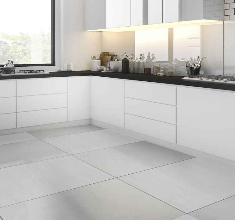 TENSTICKERS. 木製灰色板ビニールステッカー床タイル. 家またはどこでも床のスペースを飾るために木の灰色板床のステッカー。自己接着性で問題なく簡単に塗布できます。