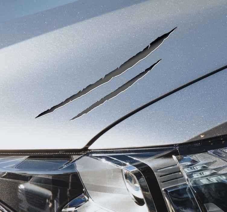 TenVinilo. Vinilo coche efecto arañazo 3D. Vinilo coche efecto arañazo 3D original perfecto para ti. Disponible en más de 50 colores y en muchos tamaños a elegir ¡Envío a domicilio!