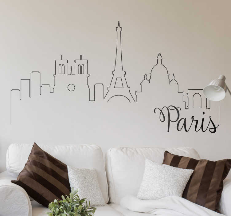 TenStickers. Postcards from Paris Wall Stickers. A set of three wall stickers with vintage designs of postcards from Paris.