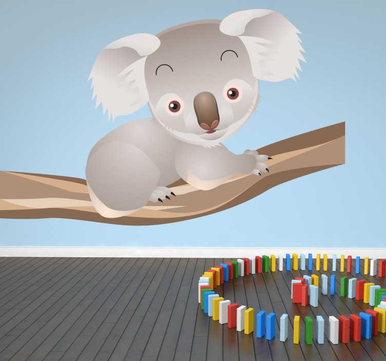 Sticker pour enfants koala sur une branche