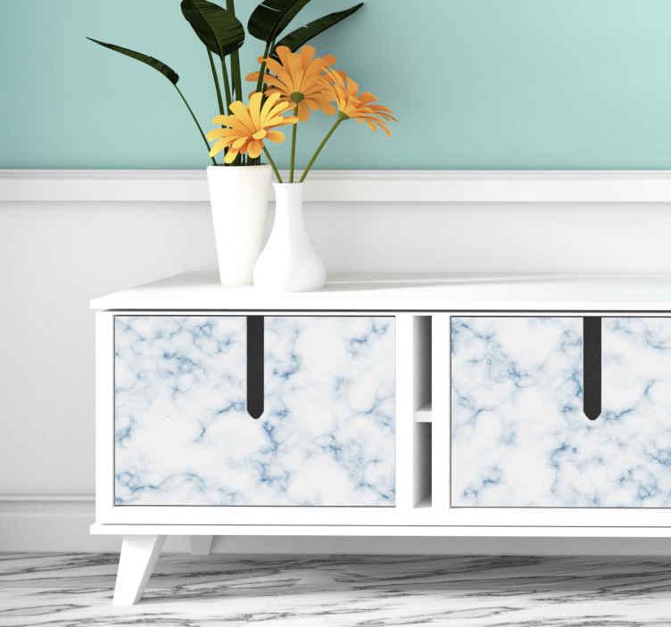 TenStickers. Stickers Marmeren textuur voor meubels. Een decoratieve marmer meubelsticker voor kasten, lades, tafels en kasten. Het is gemakkelijk aan te brengen en gemaakt van hoge kwaliteit.
