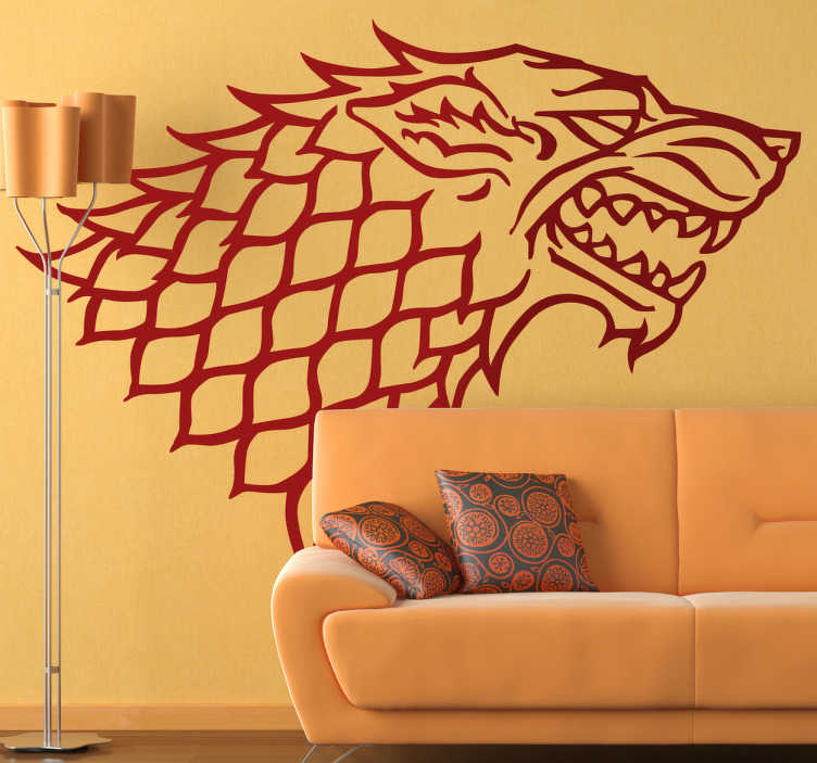 TenStickers. The Stark Family Crest Wall Sticker. Room Stickers - From the hit HBO series - Game of Thrones, the symbol of the Stark family.Decals inspired by classic films and hit TV series.