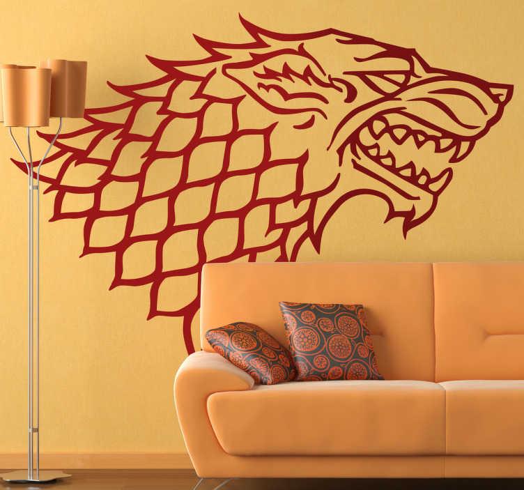 Naklejka dekoracyjna Games of Thrones Stark