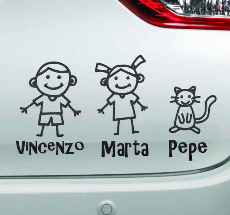 TenStickers. People with names baby in car decal. Announce to other road users the little passengers you have in your vehicle with our customized name child on board car decal. It is easy to apply.