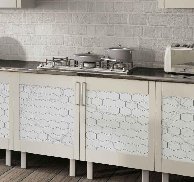 TENSTICKERS. 石の質感の家具デカール. 家の引き出しスペースとキャビネットをオリジナルの装飾的な石の質感の家具ステッカーで覆います。それは高品質のビニールから作られています。