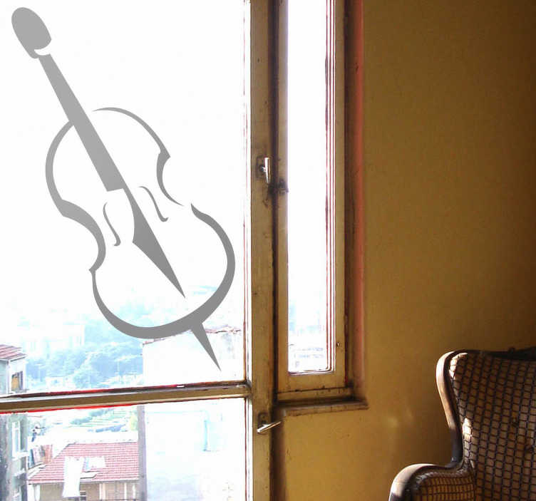 TenStickers. Violin Music Sticker. A brilliant monochrome wall sticker illustrating a music instrument!