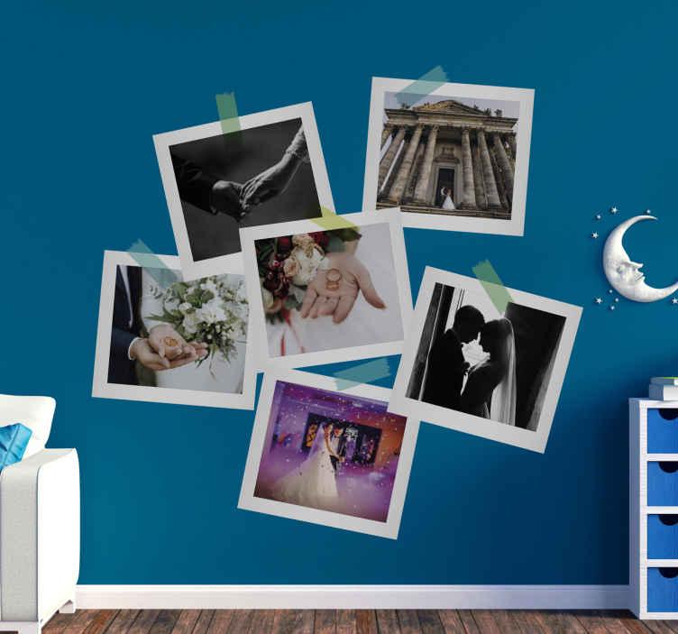 TENSTICKERS. あなたのイメージのウェディングビニールデカールでカスタマイズ可能. あなた自身の画像でカスタマイズ可能な私たちのオリジナルの装飾的な結婚式のビニールステッカーを購入してください。必要なサイズで利用できます。