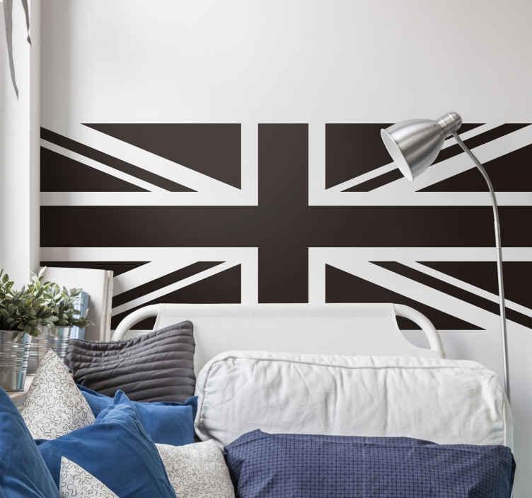 TenStickers. Autocolante decorativo com bandeiras Bandeira britânica. Um vinis decorativos de bandeira britânica fantástico para decorar qualquer espaço de sua escolha. Uma ideia decorativa para os locais de casa, escritório e negócios.