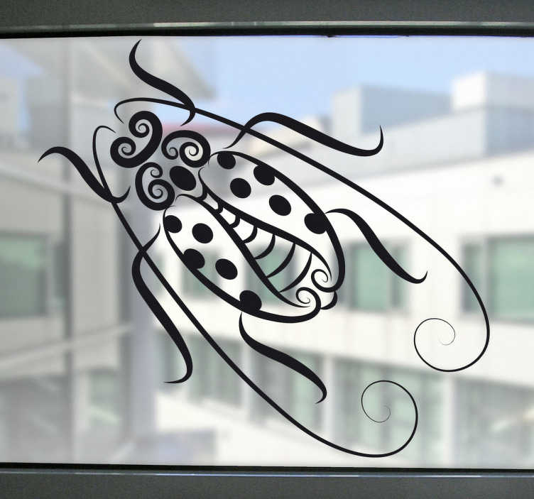 TenStickers. Abstract Bug Decal. Decals - Abstract illustration of a butterfly. Distinctive design ideal for decorating your windows. Available in various sizes and colours.