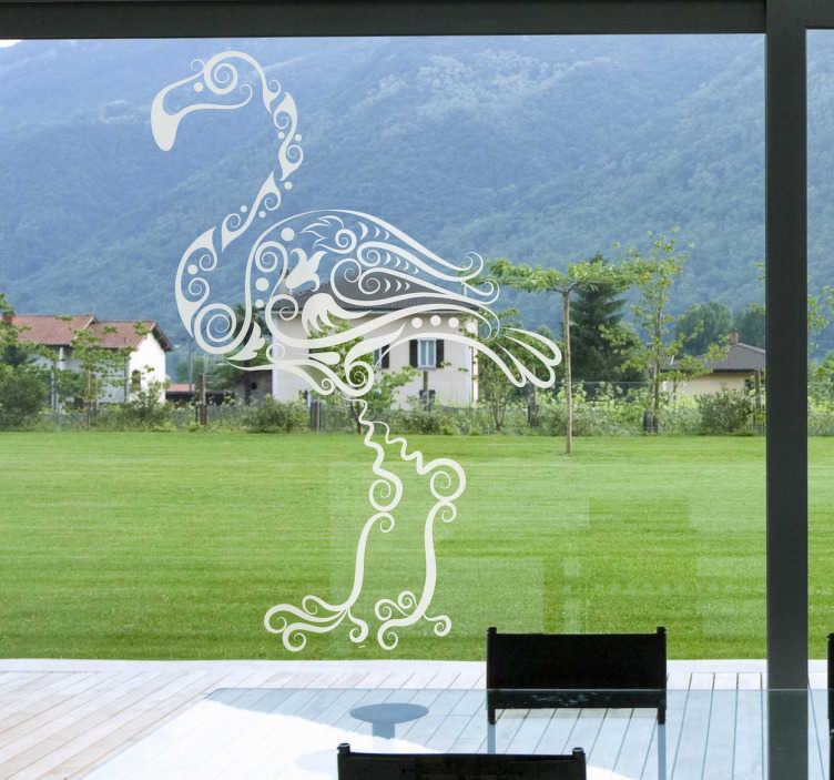 Vinilo decorativo flamenco abstracto
