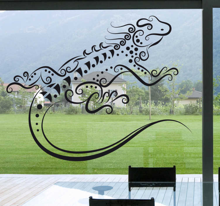 TenStickers. Abstract Gecko Wall Art Sticker. A fantastic abstract illustration of a lizard. Brilliant design from our collection of gecko wall art stickers to decorate your home!