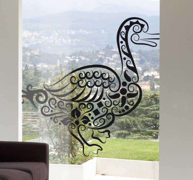 TenStickers. Abstract Duck Decal. Decals - Abstract illustration of a duck. Distinctive design ideal for decorating your windows. Available in various sizes and colours.