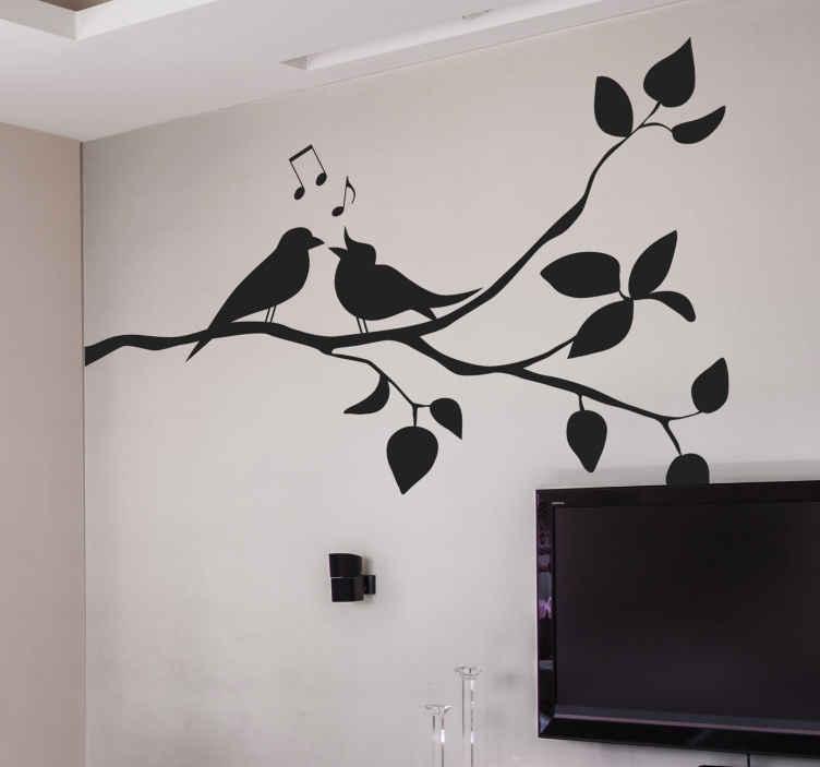 TENSTICKERS. 鳥のデカールと木の枝. 家とオフィスの装飾のための鳥の壁のステッカーと木の枝。さまざまな色とサイズのオプションが用意されています。