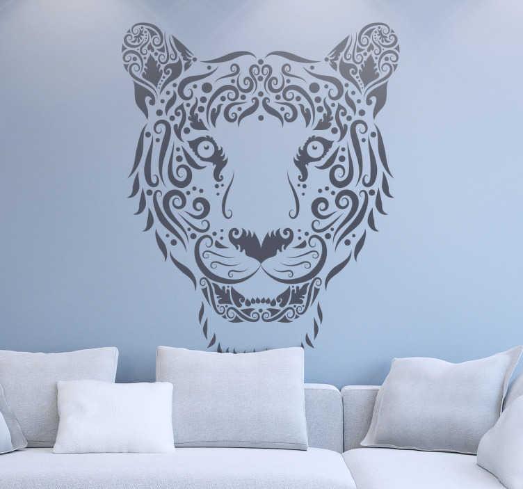 Naklejka dekoracyjna abstrakcyjny tygrys