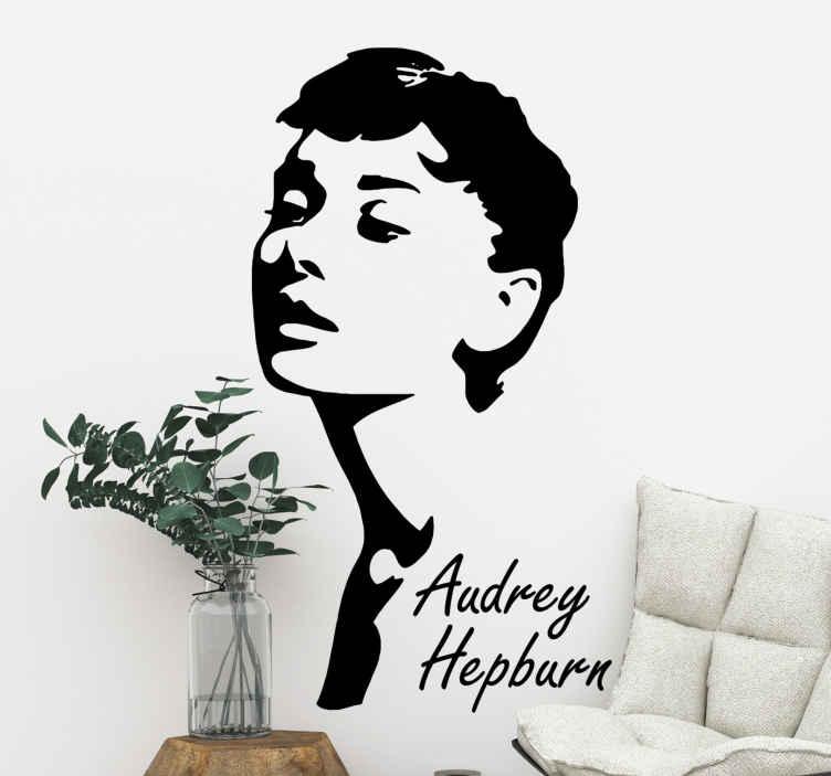 Audrey Hepburn Character Wall Sticker Tenstickers