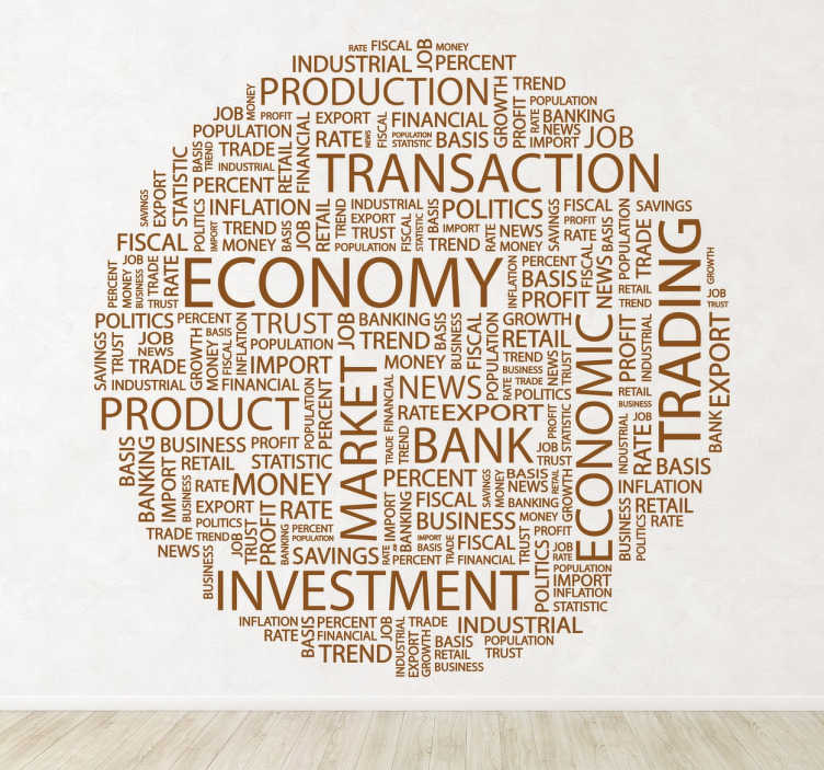 business finance concept text wall sticker - tenstickers
