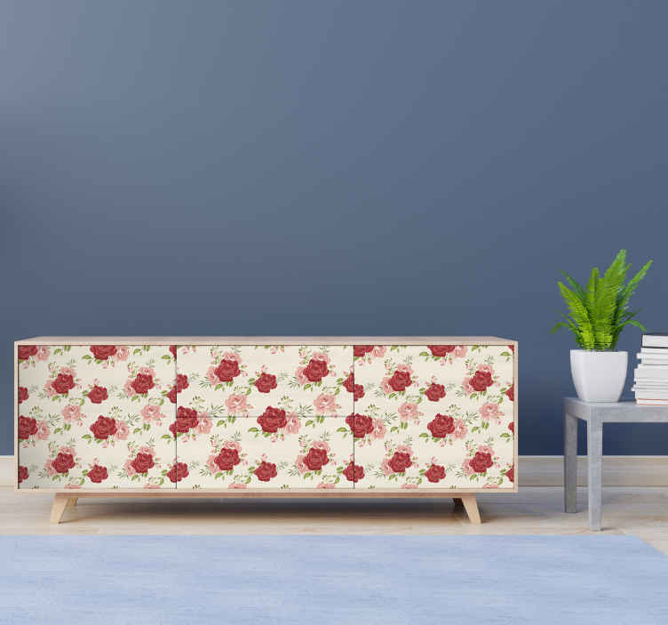 TENSTICKERS. 花家具デカール. 花柄の装飾が簡単な装飾家具デカールを購入してください。高品質のビニールで作られています。ディメンションはカスタマイズ可能です。