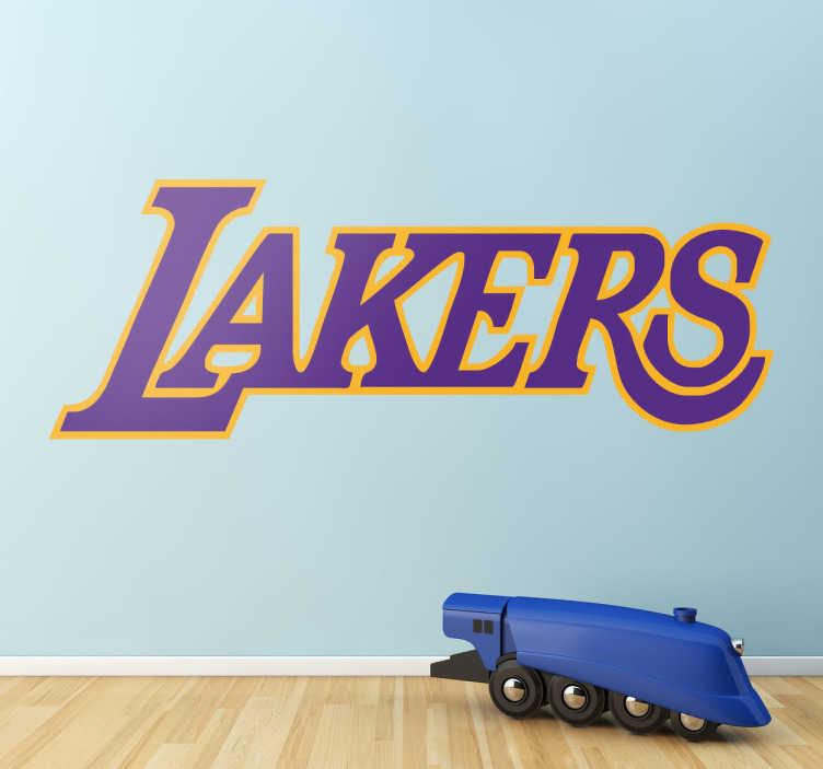 TenStickers. Naklejka dekoracyjna Los Angeles Lakers. Naklejka dekoracyjna z nazwa amerykańskiego klubu koszykarskiego Los Angeles Lakers.