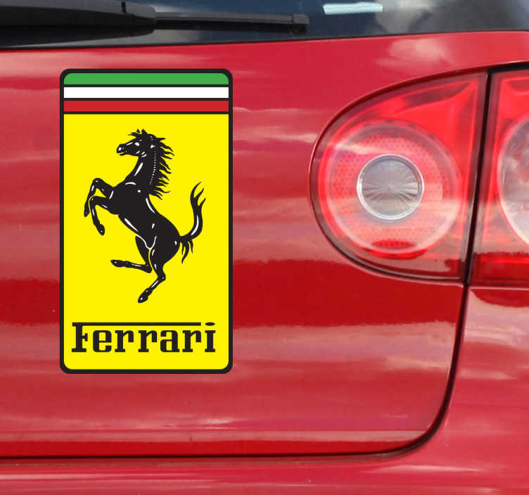 Sticker logo Ferrari couleur