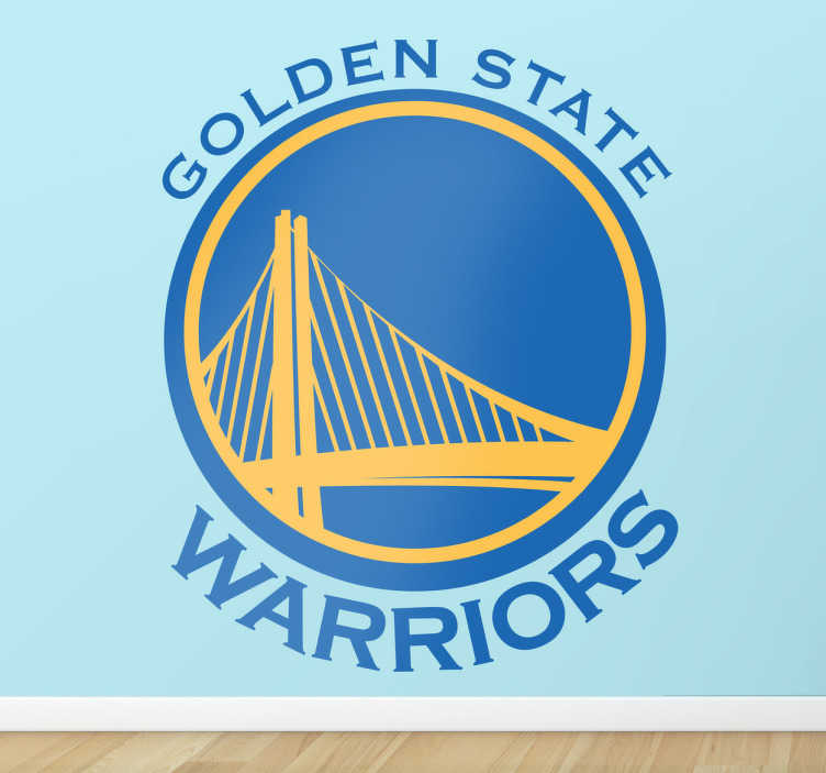 TenStickers. Golden State Wall Sticker. Sport Stickers -Logo illustration of professional American basketball team The Golden State Warriors. Ideal for fans and sports-related organisations.