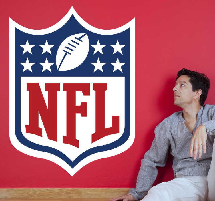 TenStickers. Sticker logo NFL. Sticker met het logo van de National Football League in Amerika. Bepaal zelf de grootte van de muursticker en wij maken deze voor u op maat.