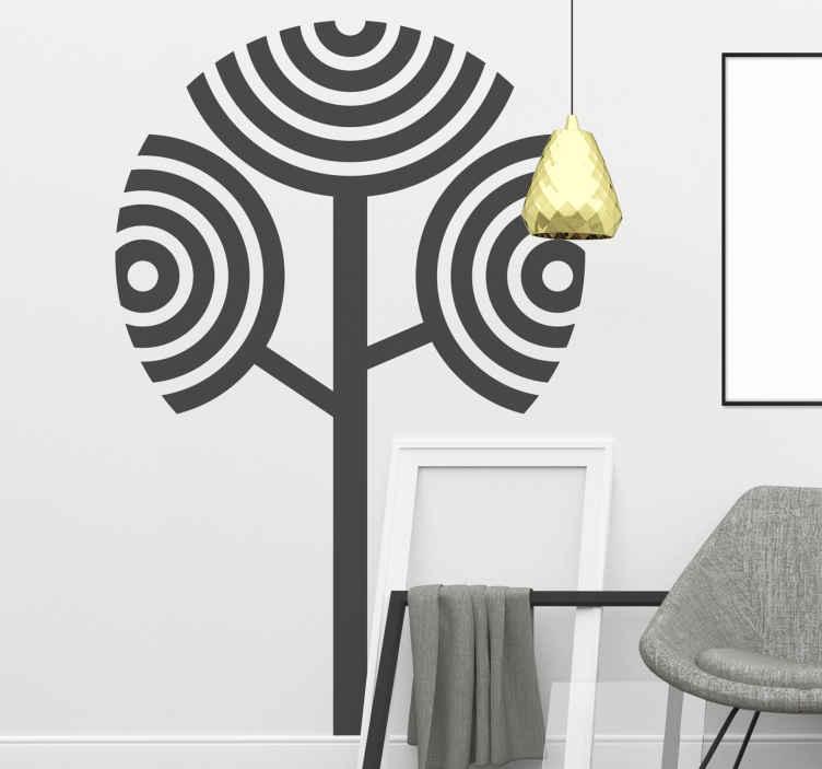 TENSTICKERS. 果樹のシンプルな大きな葉の木の壁のステッカー. かわいらしいパターンでデザインされたフルーツシルエットの木の壁のアートステッカー。家とオフィススペースのための素晴らしい装飾。適用が簡単で自己接着性。