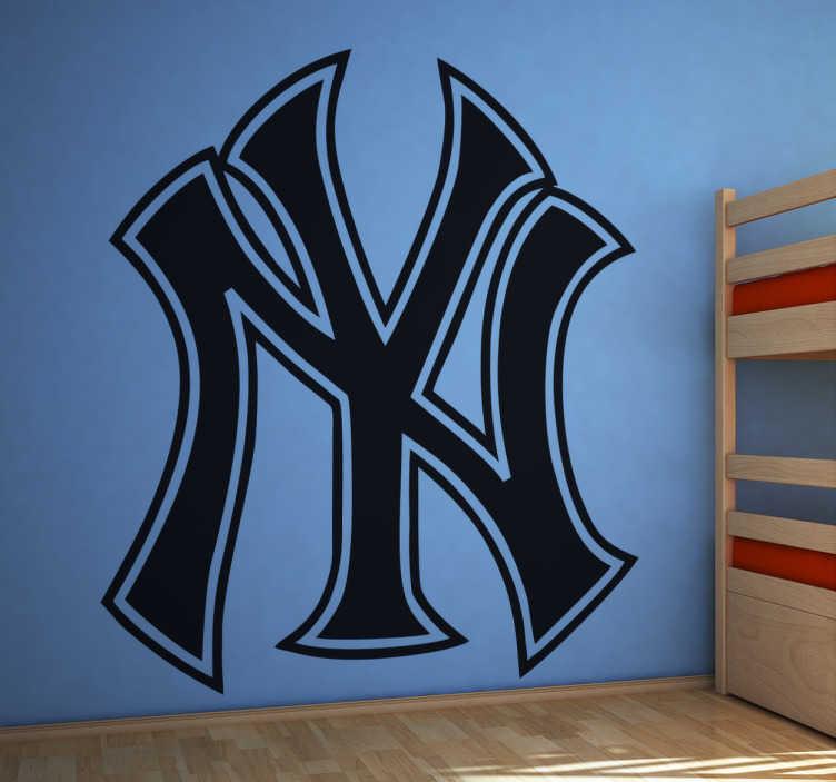 TenStickers. Sticker New York Yankees. Stickers décoratif représentant le logo des New York Yankees. La plus grande équipe de base-ball américain. Si vous êtes un fan alors sélectionnez les dimensions de votre choix pour personnaliser le stickers à votre convenance.