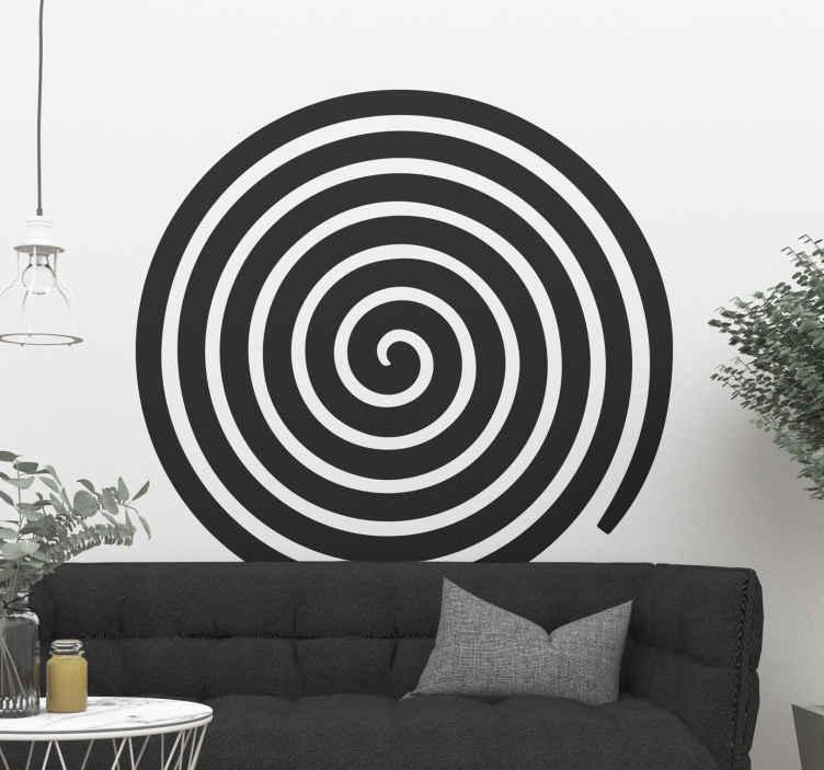 TENSTICKERS. ライン壁デカールの抽象的な円. モダンでスタイリッシュな方法であなたの家のスペースを飾るための抽象的なサークルウォールステッカー。さまざまなサイズと色でご利用いただけます。