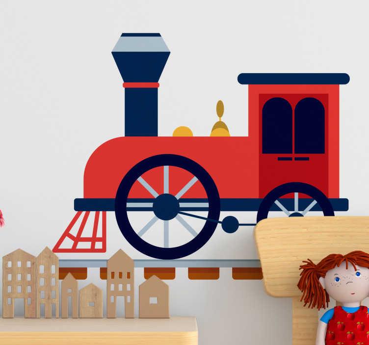 TenStickers. Sticker vrouw spoorweg. Deze originele muursticker van een een spoorweg zet iedereen aan het denken. Een goede manier om de wanden van uw muren te decoreren.
