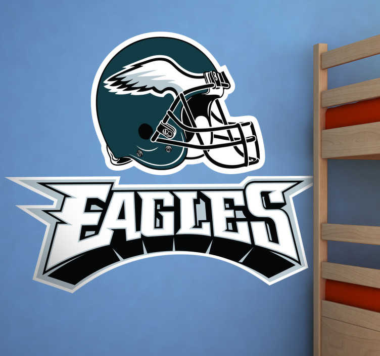 TenVinilo. Vinilo decorativo Philadelphia Eagles. Emblema Adhesivo del equipo de fútbol americano: Philadelphia Eagles, participa en la NFL, la mayor Liga de fútbol americano del mundo. Un deporte intenso y competitivo.