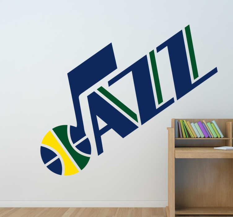 TenVinilo. Vinilo decorativo Utah Jazz. Representativo Adhesivo del equipo de baloncesto estadounidense de la NBA: Utah Jazz. Pertenece a la principal liga de baloncesto de América, y es uno de los deportes más seguidos del mundo.