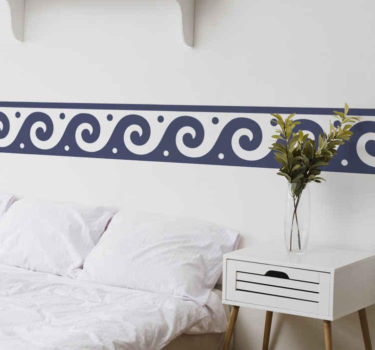 TENSTICKERS. ギリシャ風ボーダーデカール. ギリシャのスタイリッシュなデザインの装飾的なボーダーステッカー。このデザインは本当に素晴らしいですし、どんなスペースでもきれいで上品に見えます。