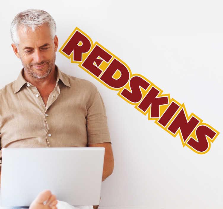 TenStickers. Adesivo murale logo Washington Redskins. Sticker decorativo con l'emblema della nota squadra di football americano, facente parte della NFL: i Redskins.
