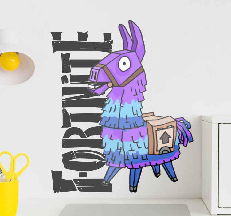 TenStickers. Wandaufkleber Videospiel Fortnite mit Pinata. Ein Fortnite Wandtattoo für Videospiele, mit dem Sie jeden Raum Ihrer Wahl dekorieren können. Es ist in jeder gewünschten Größe anpassbar und einfach aufzutragen!