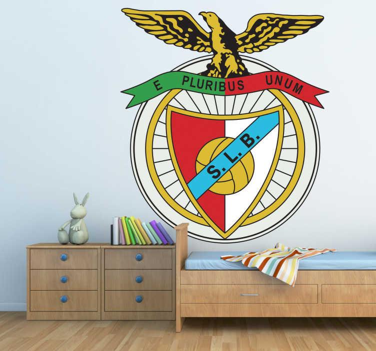 TenVinilo. Vinilo decorativo Benfica. Escudo Adhesivo del equipo de fútbol de la ciudad de Lisboa: Benfica. Uno de los tres grandes del país luso. Para los amantes del deporte.