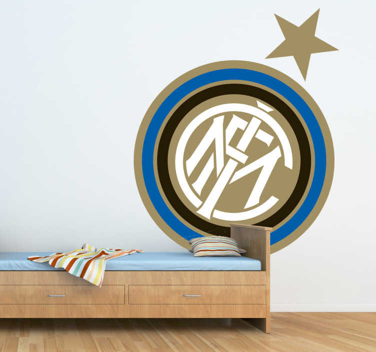 TenStickers. Naklejka herb Inter Milán. Naklejka reprezentująca herb włoskiej drużyny piłkarskiej Inter Milán.