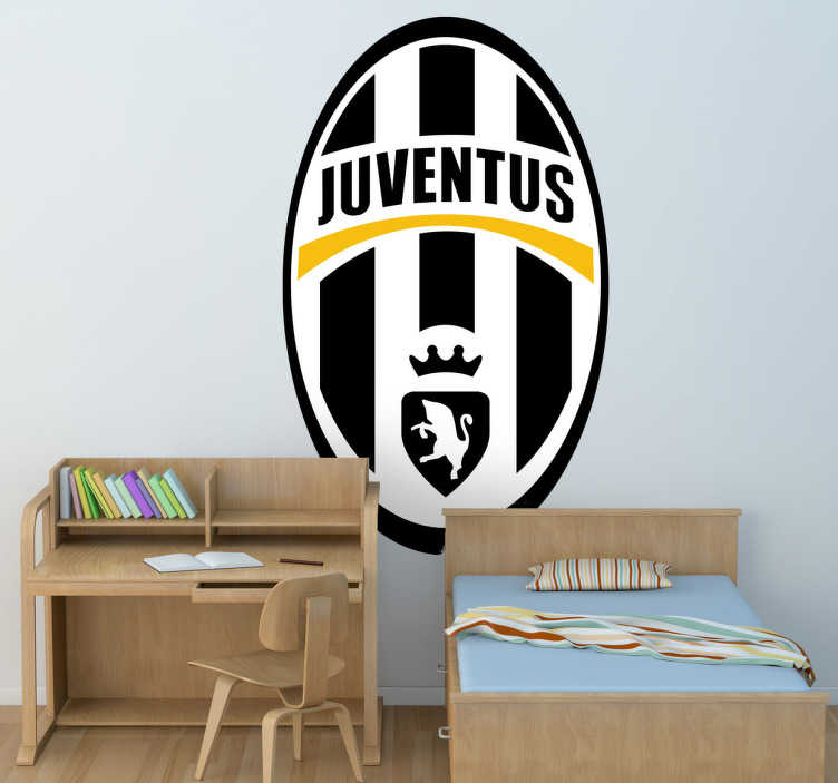 TenStickers. Juventus Emblem Wall Sticker. A sports decal illustrating the emblem of the famous Italian football team, Juventus FC. A fantastic football sticker for those Juve supporters.