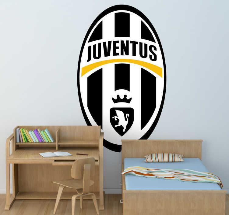 TenVinilo. Vinilo decorativo Escudo Juventus. Escudo Adhesivo del club de fútbol Juventus, Uno de los equipos más importantes en Italia, situados concretamente en la ciudad de Turín.