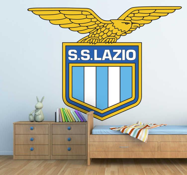 TenVinilo. Vinilo decorativo Lazio. Escudo Adhesivo del club de fútbol Lazio de Roma, importante equipo de Italia. Excelente vinilo para los amantes del deporte.