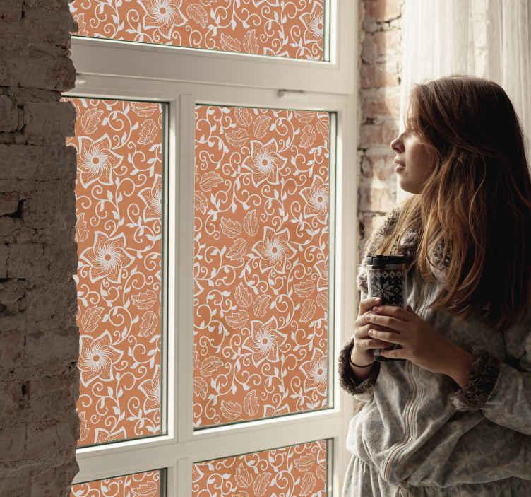 TENSTICKERS. ペイズリー花ウィンドウデカール. あなたの家およびオフィスのウィンドウスペース装飾のためのペイズリー花ウィンドウステッカー。それは高品質のビニールで作られ、適用が非常に簡単です。