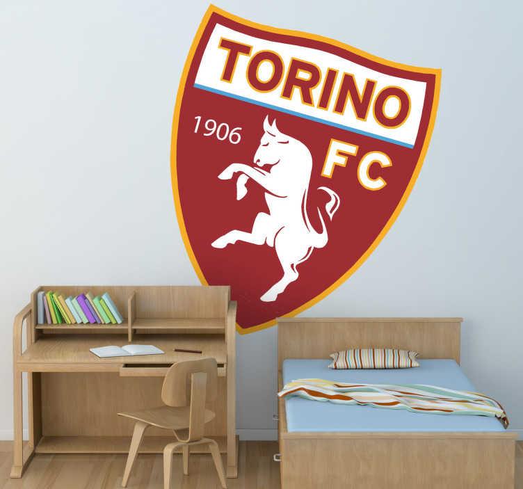 TenStickers. Adesivo murale logo Torino. Emblema adesivo del Torino Football Club. Dedicato ai tifosi piú affiatati della nota squadra piemontese.