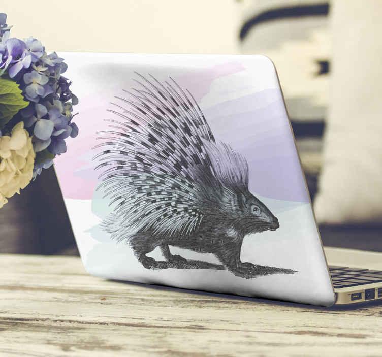 TenVinilo. Vinilo para laptop artístico puercoespín. No querrás perderte nuestro impresionante y vinilo para laptop con puercoespín con púas erizadas en estilo artístico ¡Envío a domicilio!