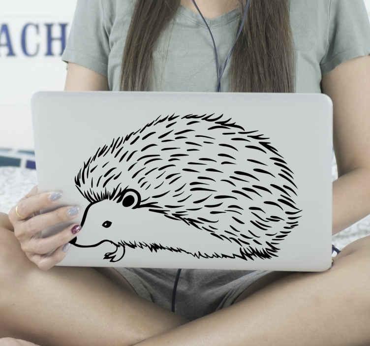 TenVinilo. Vinil para laptop dibujo puercoespín. Vinil para laptop con dibujo de puercoespín para que decores tu portátil de forma original y exclusiva. Elige medidas ¡Envío a domicilio!