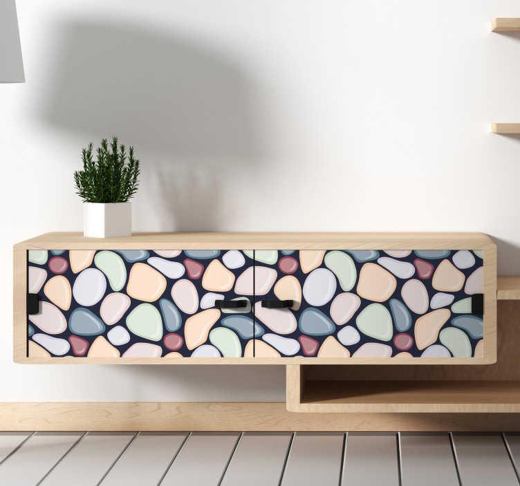 TenStickers. 岩石和贝壳墙贴纸. 如果你喜欢海洋和航海主题,那么贝壳和岩石设计的贴纸是完美的!用它装饰你的卧室或客厅!