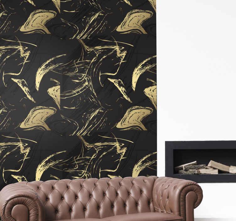 TENSTICKERS. 黒と金の大理石のテクスチャ壁の装飾. ブラックとゴールドの装飾用大理石のテクスチャウォールステッカーで、クラスのタッチと排他性を使ってあらゆるスペースを飾ります。簡単に適用でき、高品質です。