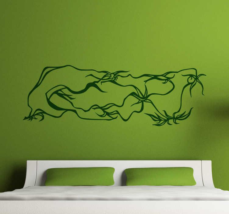 TenVinilo. Vinilo decorativo trazo del bosque. Dibujo original abstracto, inspirado en ramas de bosque. Un diseño exclusivo en vinilo para decorar, por ejemplo, el cabezal de tu cama.